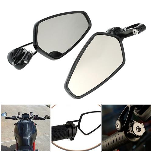 Пара мотоцикл универсальный 7/8» ручки бар конце зеркало заднего вида CNC алюминиевый 360° вращение кронштейна зеркала бокового вида