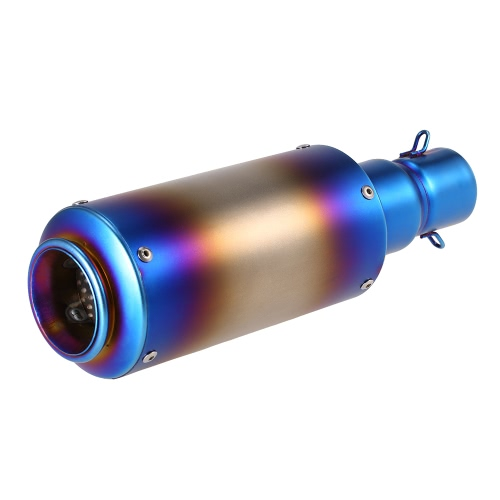 38-51mm Burn Blue Refit Exhaust Muffler With fit for Motorcycles ATV Universal