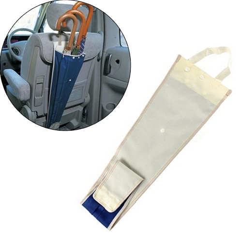 Folding and Hanging the Back Seat of the Chair to Receive Umbrella Foldable Umbrella Holder for Car Waterproof