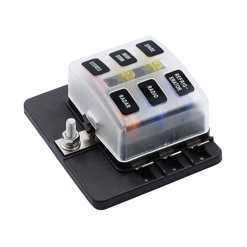6 Way Blade Fuse Box Holder with LED Warning Light 12 Fuses for Car Boat Marine Caravan12V 24V