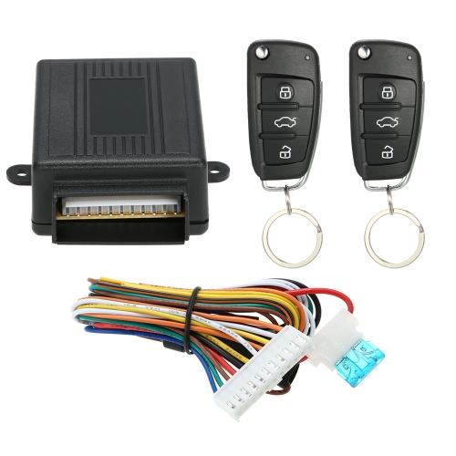 Sistema universal de entrada sin llave con cerradura de la puerta de coche con botón de liberación de maletero Kit de caja de control central remoto