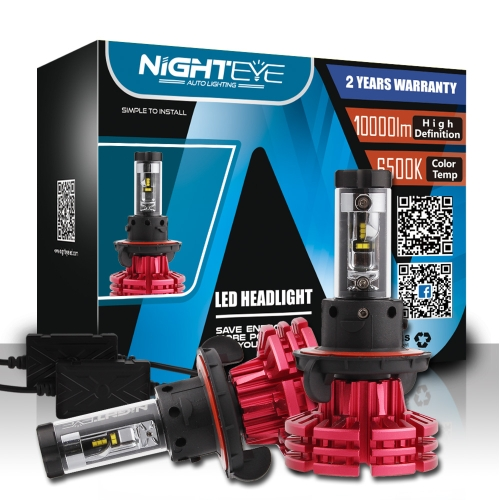 Nighteye H13 60W / set 10000LM voiture phares antibrouillards LED 3000K 6500K 8000K Plug-N-Play