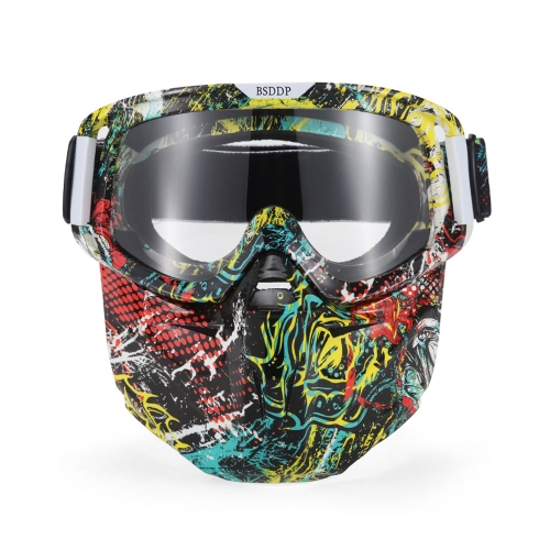 Bike Motorcycle Face Mask Goggles Motocross Motorbike Motor Open Face Detachable Goggle Helmets Vintage Glasses Universal