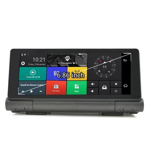 JS-D100S Multifunções BT Car Multi-media Player Navegação com mapas gratuitos e retrovisor Cam