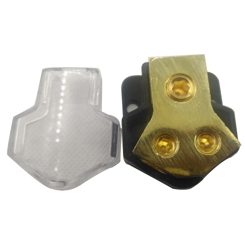 Car Audio Speaker Power Line Distribution Device Power Ground Distribution Block 1*2GA In and 2*4GA Out