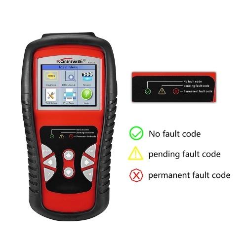 KONNWEI OBDII / EOBD Авто Диагностика Авто Сканер Автомобильный Код неисправности Считыватель Диагностический инструмент Автомобильный детектор Автомобильный инструмент KW830 фото