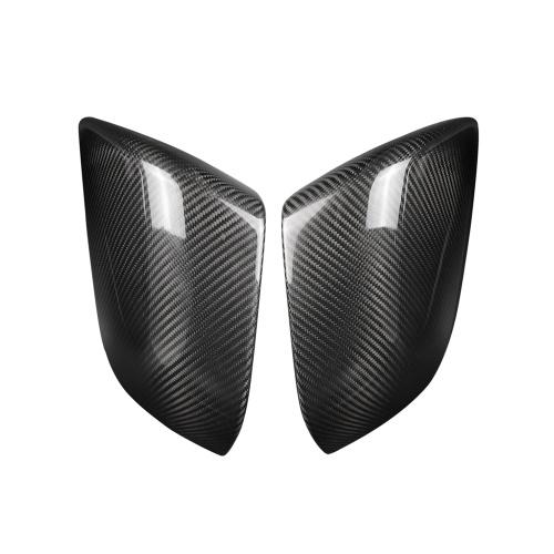 ドライカーボンファイバーサイドミラーカバーリアビューミラーカバーキャップ車装飾ステッカーデカールテスラモデル3 2018-2019