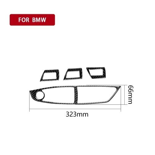 Совместим с BMW 5 серии F10 из углеродного волокна салона автомобиля Переключатель окна Декоративная рамка Наклейка двери Крышка 2011-2017