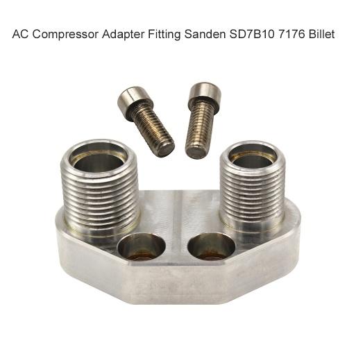 Adaptador de compresor de CA de montaje Sanden SD7B10 7176 Billet