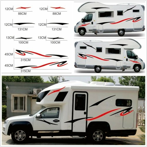 Car Auto Body Sticker Self-Adhesive Side Truck Graphics  Stickers and Decals for Camper Caravan RV Trailer