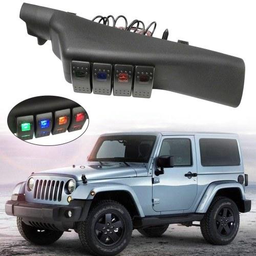 Замена системы распределения питания на левой передней стойке с 4 переключателями для Jeep Wrangler 2007-2017