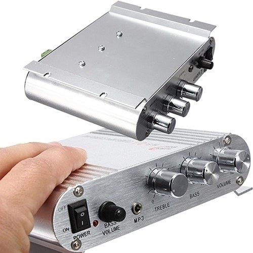 Mini carro amplificador de alto-falante de 3 canais Mega Bass estéreo Conecte com telefone PC DVD player MP3 MP4