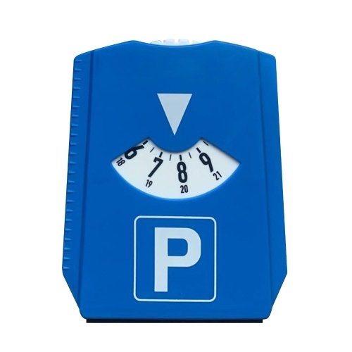 KKMOON M&H-24 European Parking Disc Parking Meters with Ice Scraper, Plastic, Blue