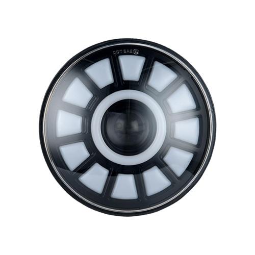 1 Uds 7in redondo LED proyector faro súper brillante reemplazo de faro para Jeep Wrangler JK JKU CJ LJ TJ Hummer H1 H2
