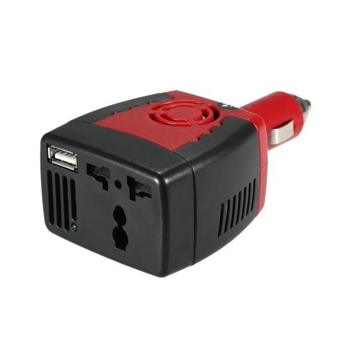 150W DC 12V a AC 110V Inversor Convertidor de voltaje automático Adaptador de inversor de corriente para automóvil con encendedor de cigarrillos