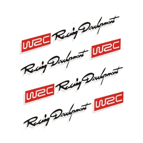 4 x стайлинга автомобилей мода WRC World Racing Development креативные автомобильные дверные ручки наклейки двухцветные дизайнерские наклейки винилы