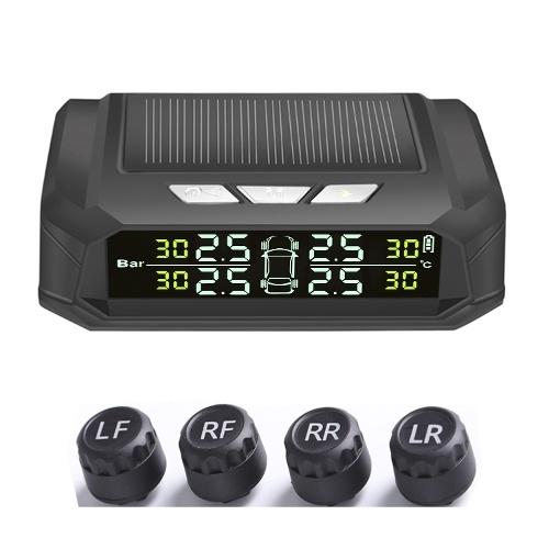 Solar Tire Pressure Monitor Wireless Tire Pressure Monitor TPMS Tire Pressure Monitor USB Chargings Monitoring