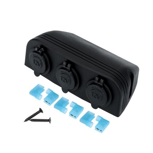 Car Cigarette Lighter Power Socket Splitter Power Charger Adapter Outlet 3 Ports 12-24V
