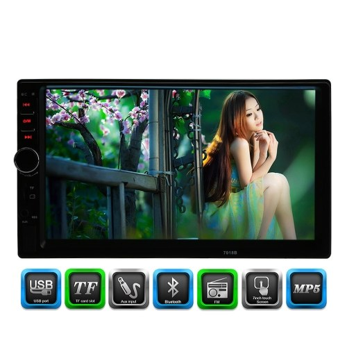 Universale 2 Din HD Bluetooth Car Stereo FM Radio MP5 Player USB/TF Aux Input Touch Screen da 7 pollici