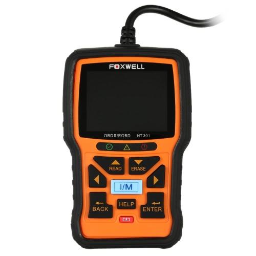 FOXWELL NT301 OBD OBDII Car Code Reader Diagnostic Scan Tool Multi-system Scanner