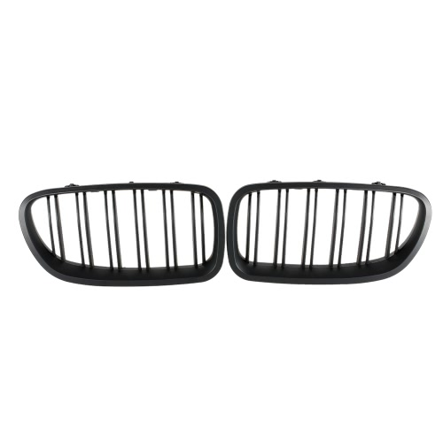 One Pair of Front Grilles Matte Black Grille for BMW F18 F10 2010-2014