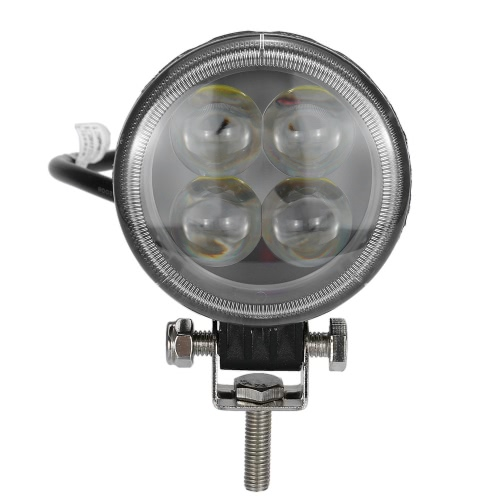 Bright Motorcycle Led Lamp with Lens DIY Round Headlight Working Light for Electrombile Scooter Car 12V 80V