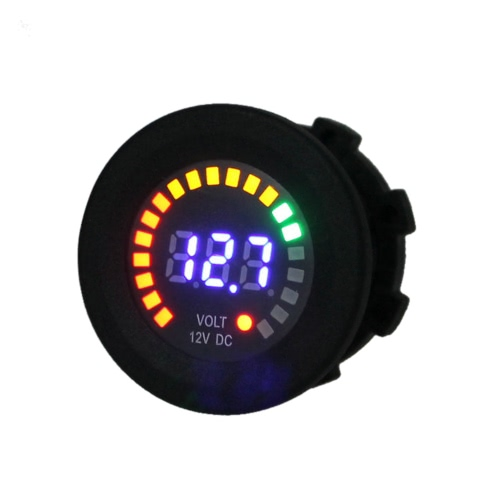 DC 12V motociclo barca digitale Tensione pannello Display LED tester di volt voltmetro