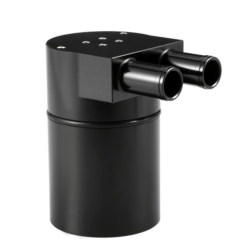 Universal Aluminum Reservoir Oil Catch Can Tank with Built-in Filter