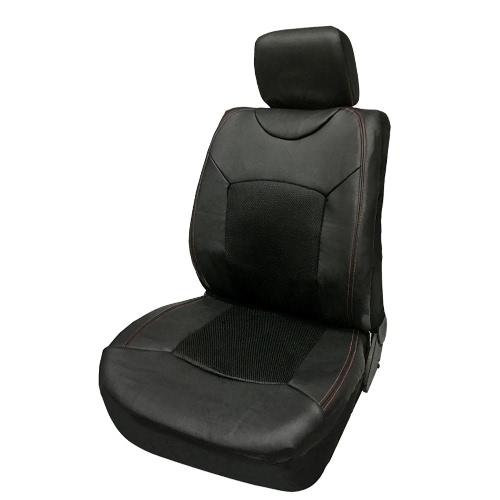 Black Universal Auto Seat Cover Car Front Single Seat Cover