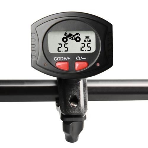 Motocicleta TPMS Sistema de monitoramento de pressão de pneu sem fio Barra de exibição LCD / unidade PSI com Sensores externos impermeáveis
