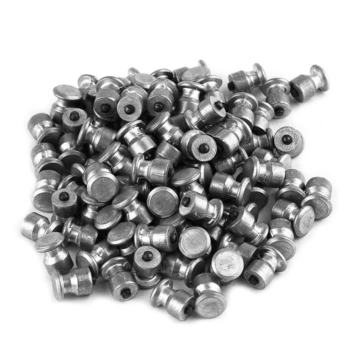 Tire Stud Small Screws Hard Alloy Snow Nail Anti-Slip Screws Para Automobile Tire Stud Screws Auto Acessórios para carro 100 Pcs 8 * 10mm
