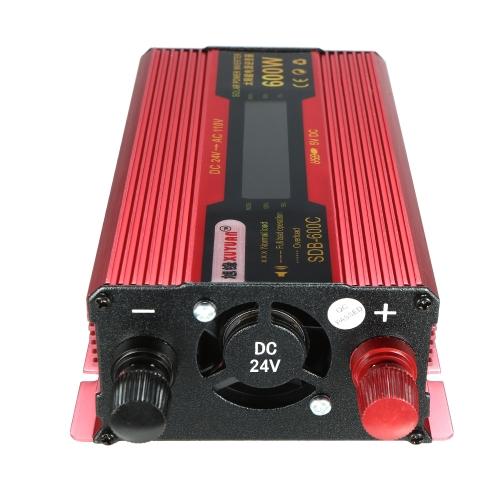 600W watt pic de voiture LED onduleur DC 12V à AC 110V convertisseur double chargeur