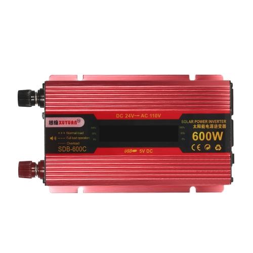 600W WATT Peak Car LED Power Inverter DC 12V to AC 110V Dual Converter Charger