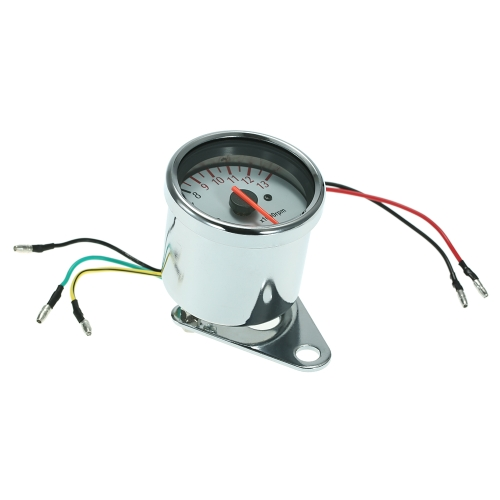 12V Universal Motocicleta Mechanica 13000RPM Scooter Tacómetro analógico Gauge XP