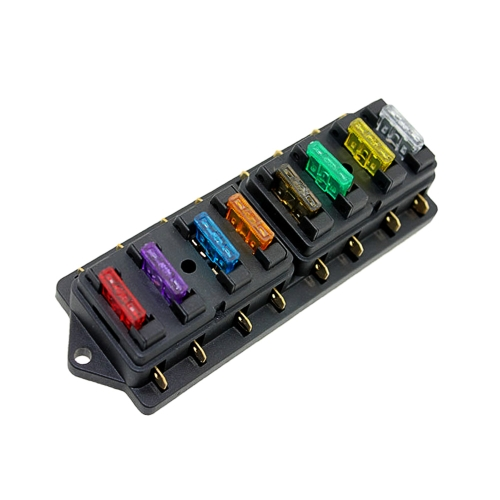 Bloc des véhicules à moteur de fusible de lame de circuit de voiture de boîte de support de fusible de manière avec des fusibles standard