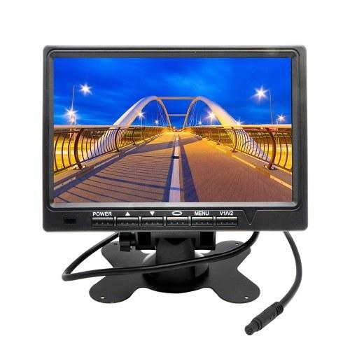Monitor LCD da 7 pollici con schermo LCD a colori per auto TFT da 800 x 480 pollici