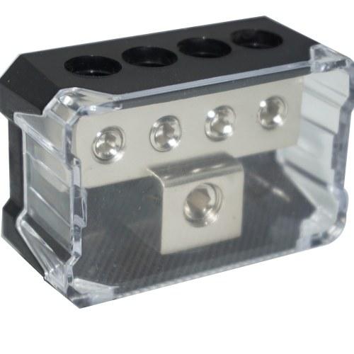 Car Audio Speaker Power Line Dispositivo di distribuzione Power Ground Distribution Block 1 * 2GA In e 4 * 4GA Out