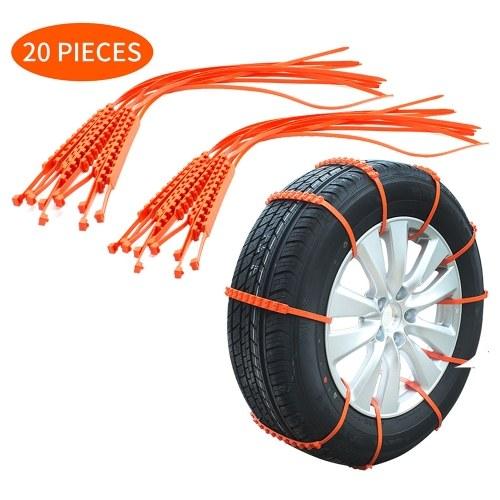 Cinghia antiscivolo per pneumatici per auto 10 * 910 mm Pneumatico per veicoli Striscia antiscivolo con zip antiscivolo Aggiunta di trazione per auto SUV Van Truck Neve Ghiaccio Prevenzione del fango