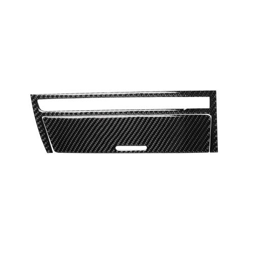 Caja de engranajes del instrumento interior de fibra de carbono Tablero de instrumentos Cenicero Panel de almacenamiento Etiqueta adhesiva del marco Cubierta decorativa para BMW Serie 3 E46 98-05