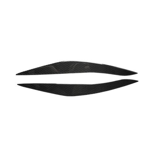 Los párpados de las cejas de los faros de fibra de carbono son compatibles con BMW F10 5 Series 2010-2013