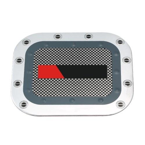 Автомобильная крышка топливного бака Алюминиевая квадратная масляная коробка Замена внешней наклейки для Toyota Land Cruiser FJ60