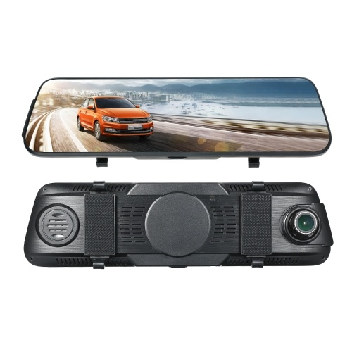 10 inch 1080P Double Lens Wide Angle Car Mirror Dash Came Multimedia Full Touch Screen DVR Rearview Camera