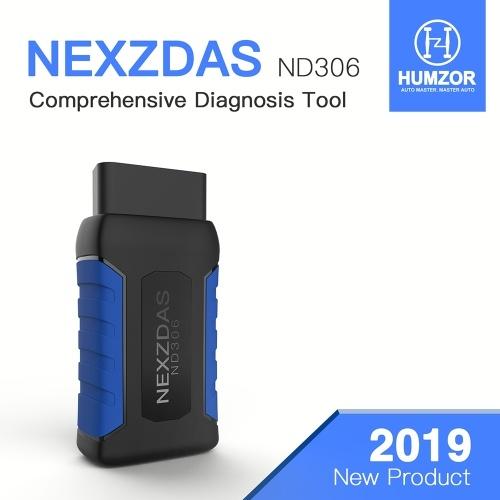 HUMZOR ND306 Полная система Авто Диагностика Инструмент Сканер Автомобильный Код Читатель для Бензин Легковых Автомобилей