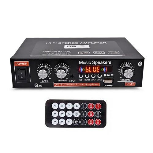 Household G30 Power Amplifier Mini BT Digital Audio Player Hi-Fi Stereo Portable Audio Amplifier K14349