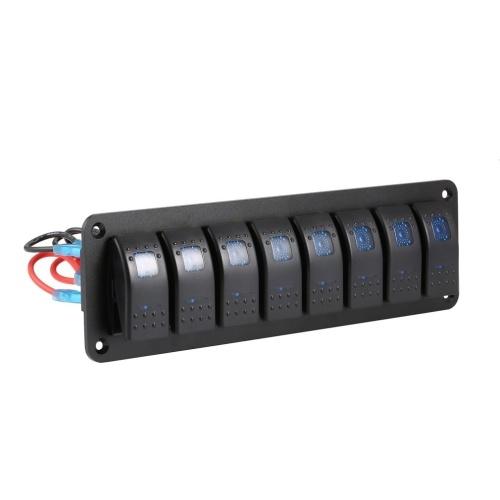 Panel de interruptores basculantes para barcos marinos de 8 pandillas