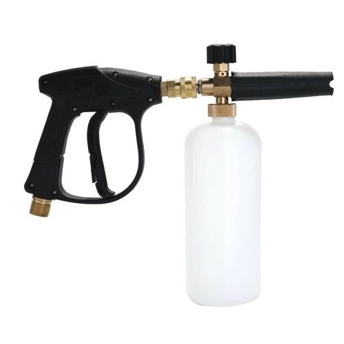 Lavadora de espuma de nieve de 1/4 pulgada Pulverizador Lavado de autos Jabón Lanza Spray Botella de chorro de presión