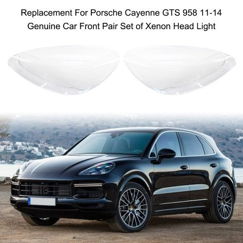 Replacement For Porsche Cayenne GTS 958 11-14 Genuine Car Front Pair Set of Xenon Head Light