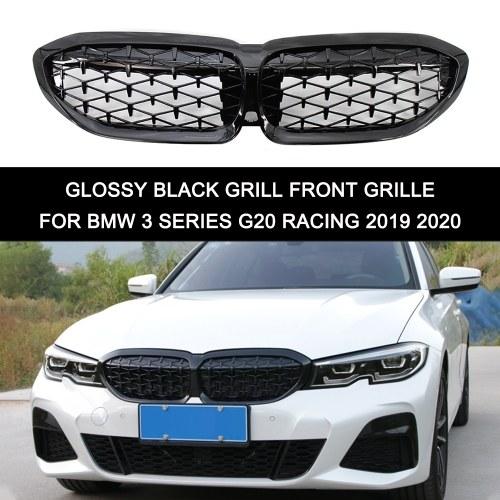 Замена передней решетки почек глянцевой черной решетки для BMW 3 серии G20 Racing 2019 2020