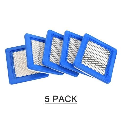 Paquete de 5 filtros de aire 491588S, reemplazo para Briggs Stratton 491588 4915885 cartucho de filtro de aire OEM plano, filtro de aire para cortacésped