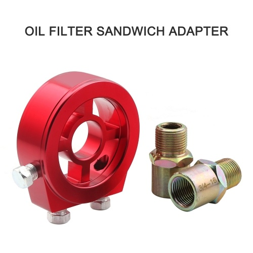 Universal Car Oil Filter Cooler Sandwich Plate Adapter for Oil Temperature & Oil Pressure